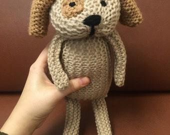 Hand knit dog