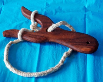 Beautiful Walnut or Cherry Hardwood Lucet for Cord Making the Viking Medieval Way