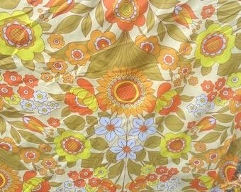 Vintage flower Orange sunflower x160cm Polyester lining fabric