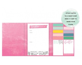 Creative Devotion Sticky Notes Dashboard with Case 7 Pads/80 Sheets Each (342845)