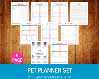 Pet Planner Set - Instant Download PDF Printable