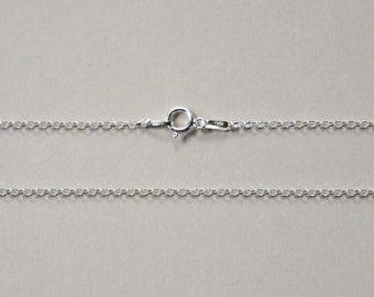 Sterling Silver Rollo Chain, Diamond Cut, Jewelry Chain, Finished Chain, Dainty Chain, Tiny Necklace, 16 inch, 1.5mm, Fast Shipping from USA