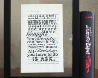 The Vampire Diaries • There's a whole world • Mystic Falls • klaus mikaelson • Caroline Forbes • TV shows • Book Quote • Wall Art • print