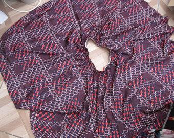 Vintage Full Circle Skirt, skirt, red skirt, full circle, 80's skirt
