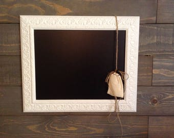 White/Painted Frame/Chalkboard/Hanging/ Chalk Paint/Farmhouse/ Wall Decor/Kitchen Decor/Coffee Bar Decor/Office Decor/Home Decor