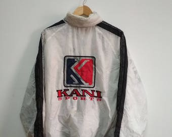 Rare Vintage KANI SPORT Sweater Windbreaker L Size