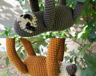 PDF Three-Toed and Two-Toed Sloths - two amigurumi CROCHET PATTERNS
