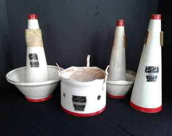 Mutes for varied musical instruments vintage