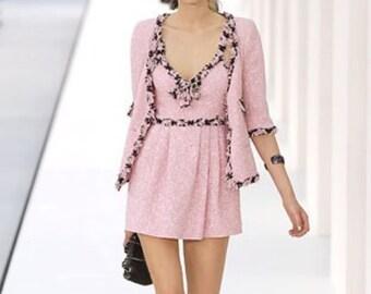 Chanel Auth Pink tweed Blazer
