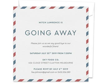 Going Away Party, Goodbye Party Invitation, Leaving Party Invitation, Farewell Party Invitation, Bon Voyage Party, Moving Away, We're Moving