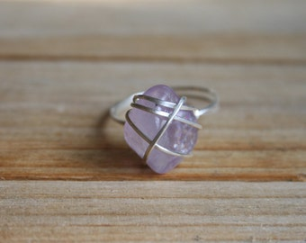 Size 6 All Encompassing Spiritual Healer Purple Amethyst and Sterling Silver