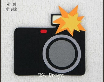 Die Cut CAMERA Photograph Scrapbook Page Embellishments for Card Making Scrapbook or Paper Crafts