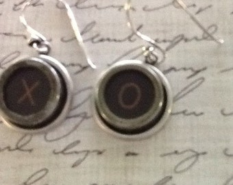 Vintage Typewriter Key Earrings - #51