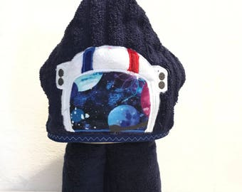Astronaut hooded towel, space child hooded towel