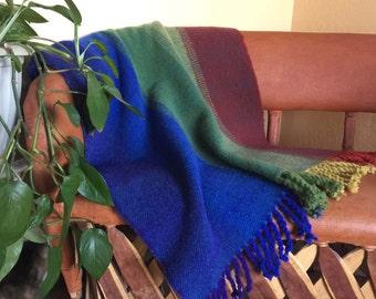Handwoven wool lap blanket
