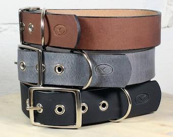 "Big Dog 1.5"" Leather Dog Collar"