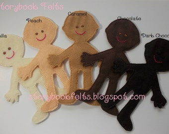 SHOP CLOSING SALE - Felt Doll Non Paper Doll Paper Doll Clothing Sold Seperately