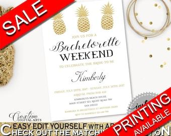Bachelorette Weekend Invitation Bridal Shower Bachelorette Weekend Invitation Pineapple Bridal Shower Bachelorette Weekend Invitation 86GZU