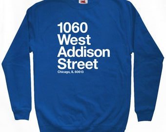 Chicago Baseball Stadium NS Sweatshirt - Men S M L XL 2x 3x - Crewneck, Chicago Shirt, North Side, Sports - 4 Colors