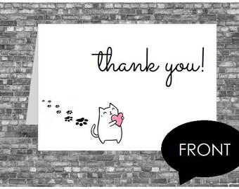 Kitten Thank You Card