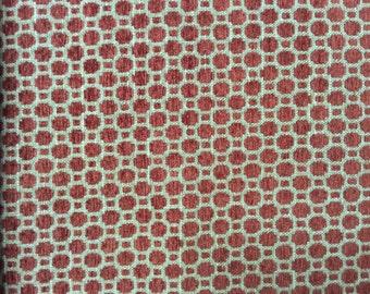 CHENILLE in Poppy rust beige woven multipurpose fabric