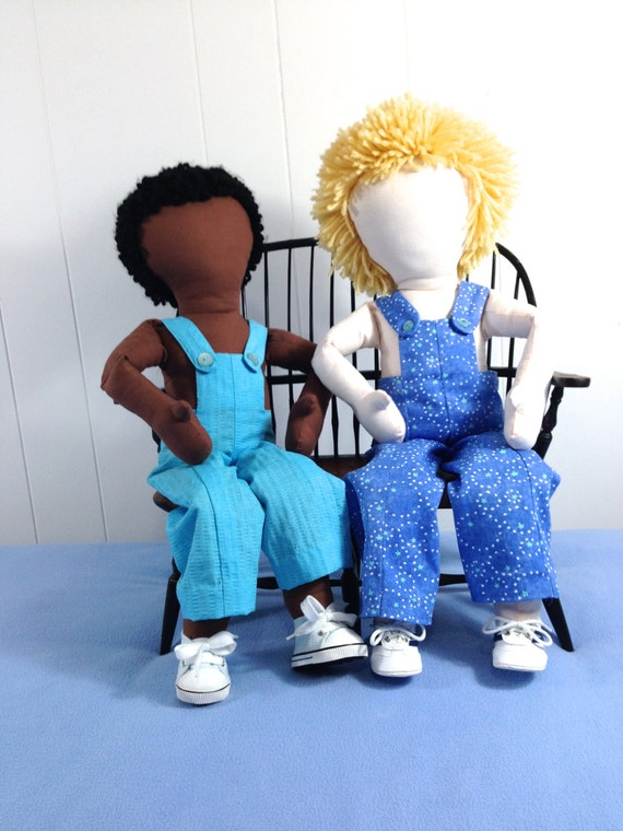 Our Overalls™ PDF Pattern for making quick, easy to sew,  overalls, slacks, pajama pants, shorts and panties for My Doll'n™ 18-20 inch doll.