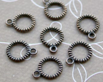 free shipping in UK - Pack of 50 Linking Rings, Twisted, Closed Jump rings Beading rings
