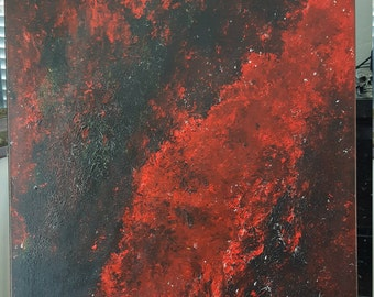 Crimson - abstract expressionist