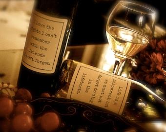 Life & Friendship Wine Bottle Greetings
