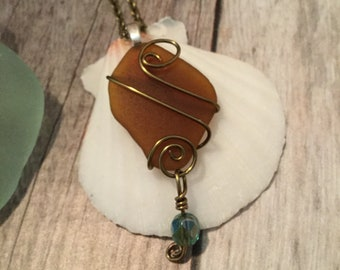 Beautiful Wire Wrapped Sea Glass