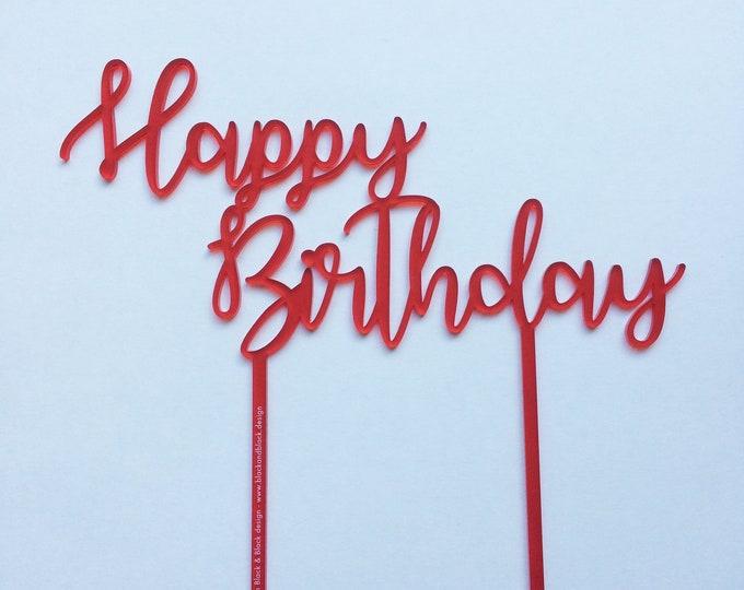 "Cake Topper Anniversaire ""Happy Birthday"""