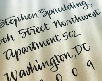 WEDDING CALLIGRAPHY MARCY : Custom Wedding Calligraphy Envelope Addressing Modern
