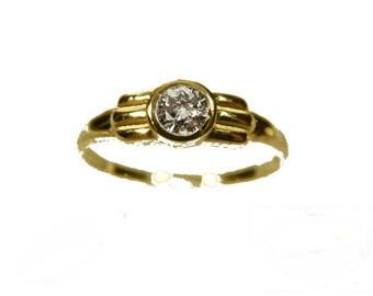 Solitaire Ring Gold 333 cubic Zirconia Gold Freunschaftsring