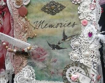 """Vintage Junk journal """"Memories"""""""