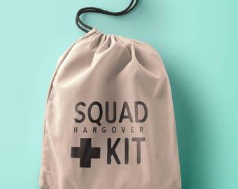 Squad hangover kit Custom Bachelorette Hangover Kit Bags - Bachelorette Party Favor - Bachelorette Hangover Kit - Bachelorette Hangover Bag