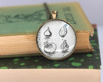 dictionary necklace - book page jewelry -  teacher gift - gardener necklace - book club gift idea - literary holiday jewelry - farmer gift
