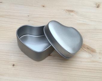 Heart Shape Tin Box, Jewelry Box, Candle Tin, Lip Balm Tin, DIY Packing (A Set Of 100 Tins)