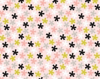Meow Asterisk Pink Cat fabric 100% Cotton Riley Blake Fabric in 1/4, Half 3/4 and a Yard for Sewing/ Quilting/ Crafting/  Applique Sewing