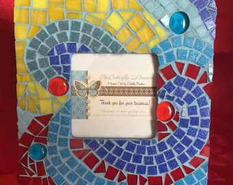 Whimsical Mosaic Picture Frame