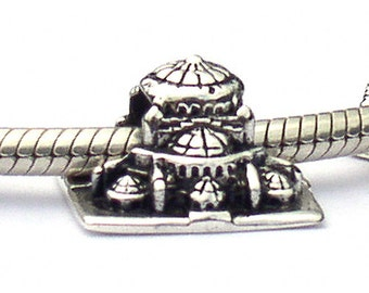 Blue Mosque Sterling Silver Landmark Bead LM079