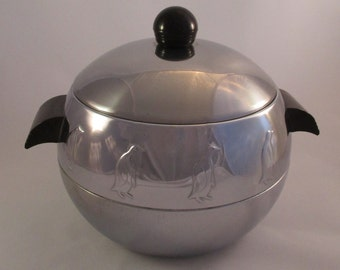 Vintage Penguin Ice Bucket/Hot & Cold Server By West Bend From The 1950's #291