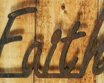 Faith, Metal Word Art for Indoors or Outoors