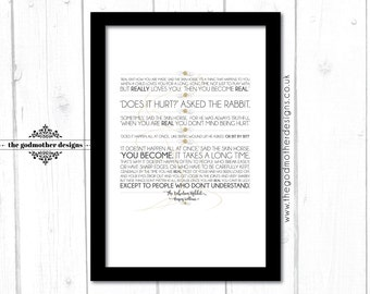 The Velveteen Rabbit - Quotes - Typography - PRINT