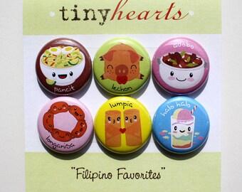 "Filipino Favorites Set - 1"" Cute Kawaii Food Magnets"