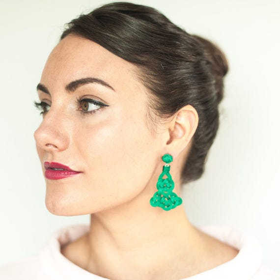 Arabesque Knot Earrings - Size Small