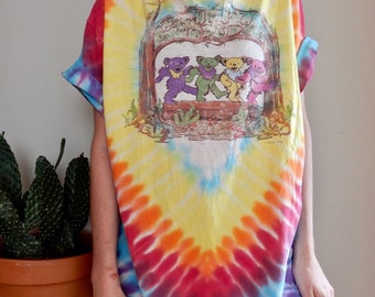 1990 Grateful Dead 25th Anniversary T Shirt • Vintage • Tie Dye • Band Tee • Collectible • Rainbow • Hippie • 1960s • Deadhead • Psychedelic
