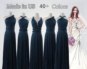 Blue Infinity Dress long bridesmaid dress infinity bridesmaid dress long infinity dress bridesmaid convertible wrap dress prom dress