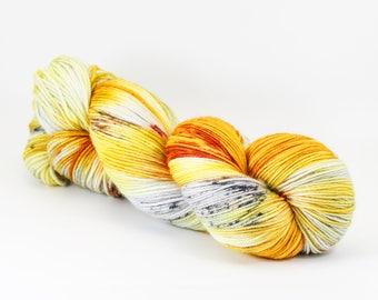 Hand Dyed Yarn - AMERICAN COPPER - 80/20 Australian Merino/Nylon Sock Yarn