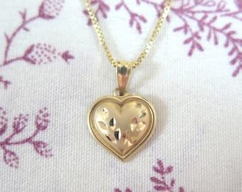 Small Gold Heart Pendant