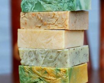 Cold Process Soap, Goat Milk Soap, Vegan Soap, All Natural Soap, Handmade Soap, Unscented Soap, Soap, Natural Soap Set, YOUR CHOICE 2 Bars